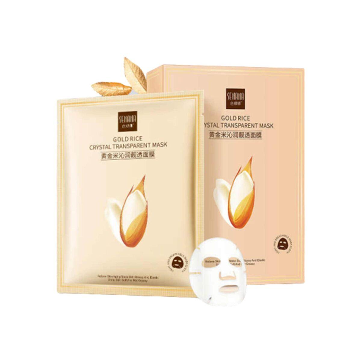 ماسک ورقه ای شفاف کننده کریستال برنج طلایی
