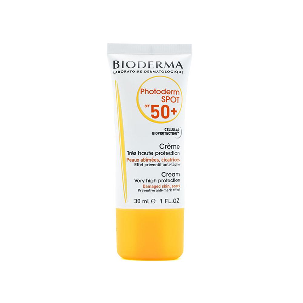 کرم ضد آفتاب بایودرما مدل فتودرم اسپات SPF 50 حجم ۳۰ میل