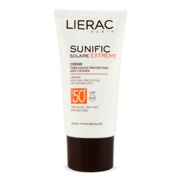 کرم ضد آفتاب لیراک سری Sunific مدل Solaire Extreme حجم ۵۰ میلی لیتر